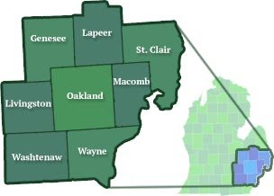 At Home Health Services - Areas Served - michigan